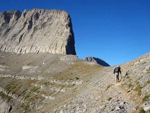 Path to Mytikas from the Giosos Apostolidis resort.