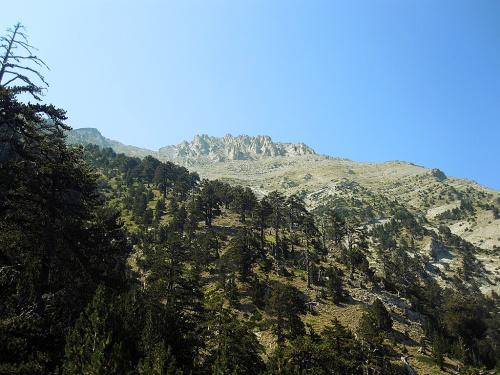 Peaks of Olympus as seen from the Spilios Agapitos resort.