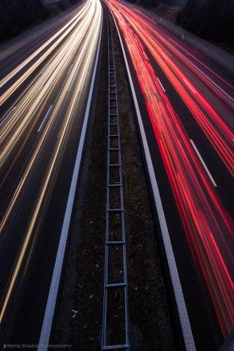 A99 West Light Trails - Munich