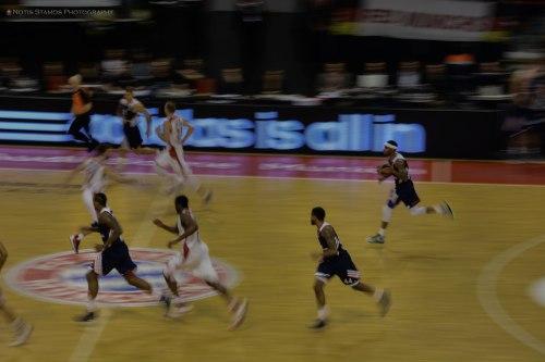 Panning shot Bayern basketball
