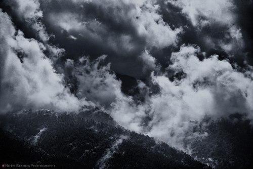Clouds - Notis Stamos - B&W