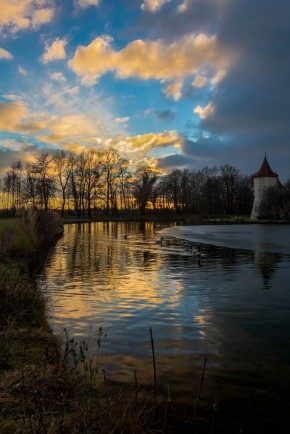 Sunset at Schloss Blutenburg in Munich