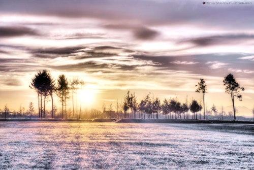 Sunrise behind the trees - HDR - Munich - Notis Stamos