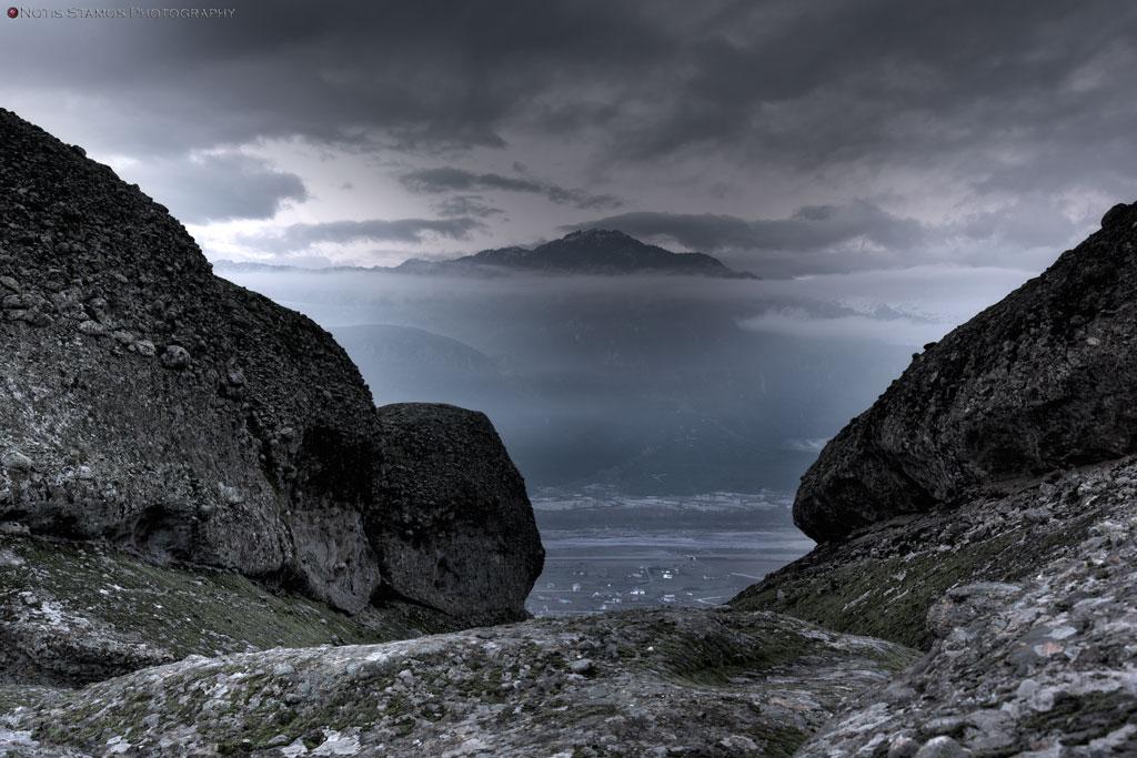Cloudy peak, Meteora, Trikala, Kalampaka, Greece, Notis Stamos