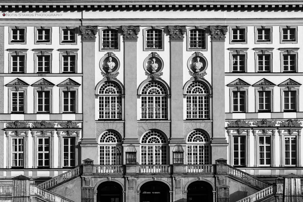 Nymphenburg palace, windows, Munich, Notis Stamos