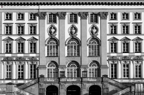 Nymphenburg palace, windows, Munich, Notis Stamos