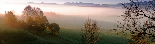 Panorama, Dawn, Alps, Bayern, Notis Stamos