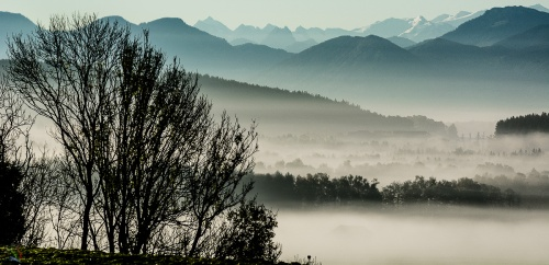 Bayern, Notis Stamos, Dawn, Fog, Alps