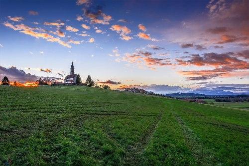 Church at dawn 2