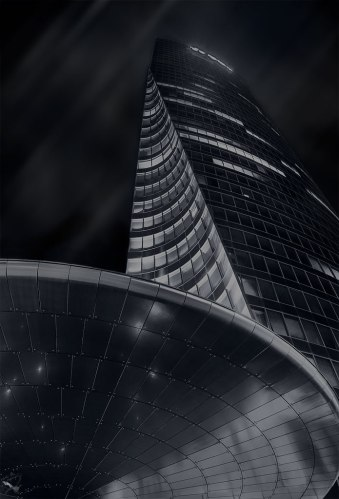 La Defence, NOtis Stamos, Paris, Architecture, Night photography