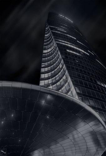La Defence, NOtis Stamos, Paris, Architecture, Night photography
