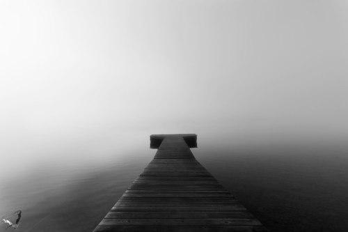Pier, Seehamer See, Lake, Fog, Notis Stamos