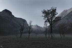 Eng Alm, Notis Stamos, Sunrise, Dawn, Mountains, Trees