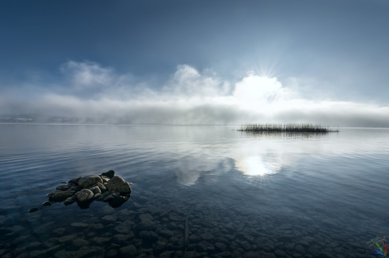 Lake, See, Tegernsee, Water, Sunrise, Dawn, Clouds, Mist, Fog, Notis Stamos