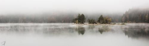 Mist, Eibsee, Fog, Island, lake, Notis Stamos