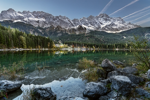 Eibsee, Zugspitze, Bavaria, Lake, Mountains, Alps, Notis Stamos