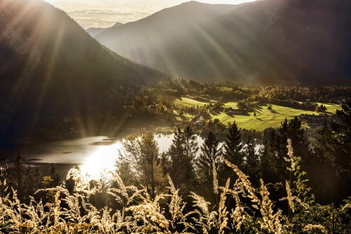 Schliersee, sunrays, lake, Notis Stamos