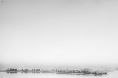 Kochelsee, lake, water, trees, mist, fog, Notis Stamos