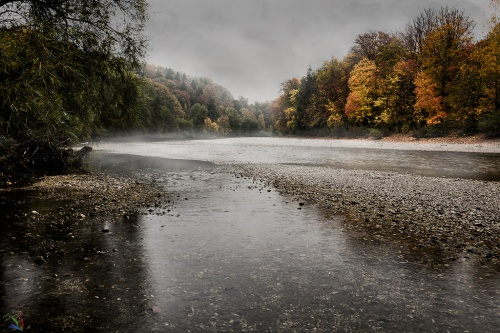 Isar, Rain, River, Fog, Mist, Notis Stamos