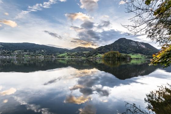 Lake, Reflection, Clouds, Notis Stamos
