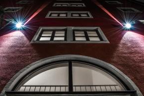 Building, Night, Wall, Windows, Notis Stamos
