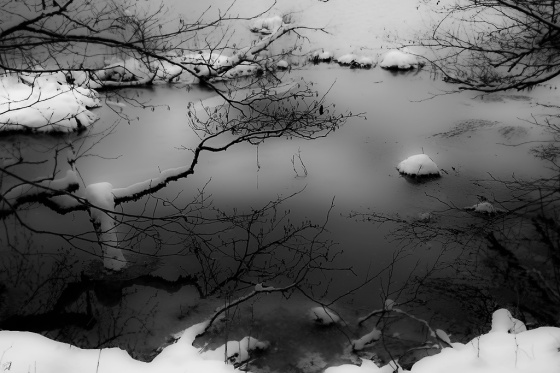 Notis Stamos, Lake, Ice, Reflection