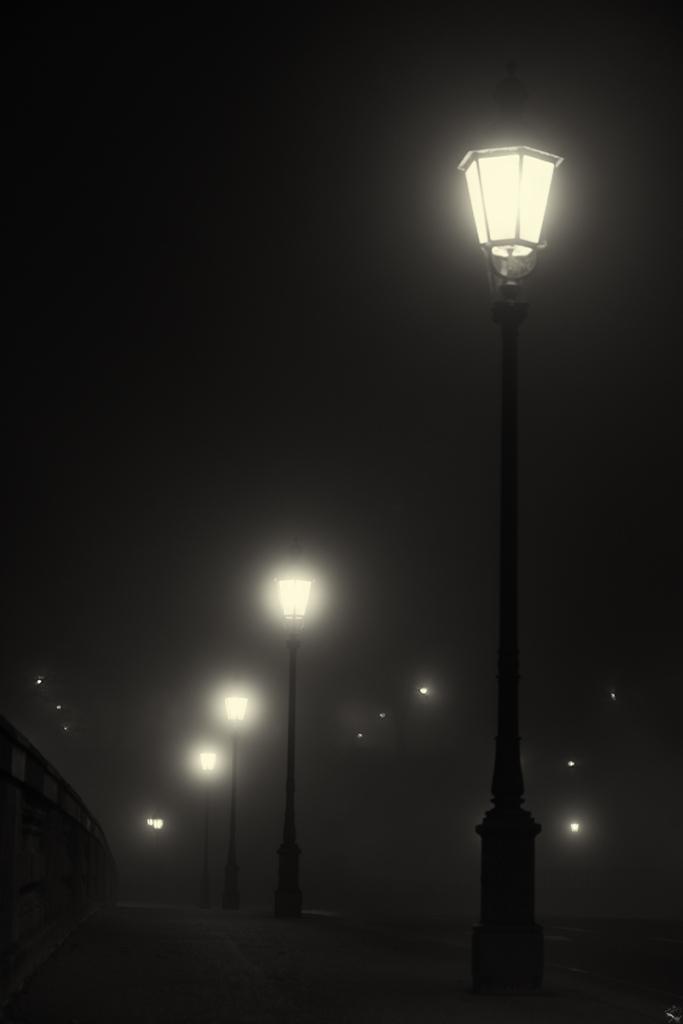 Misty Night Bridge Munich Notis Stamos